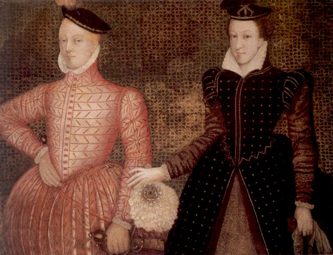 Mary, Queen of Scots, and her second husband Henry Stuart, Lord Darnley, parents of King James VI of Scotland, later King James I of England.